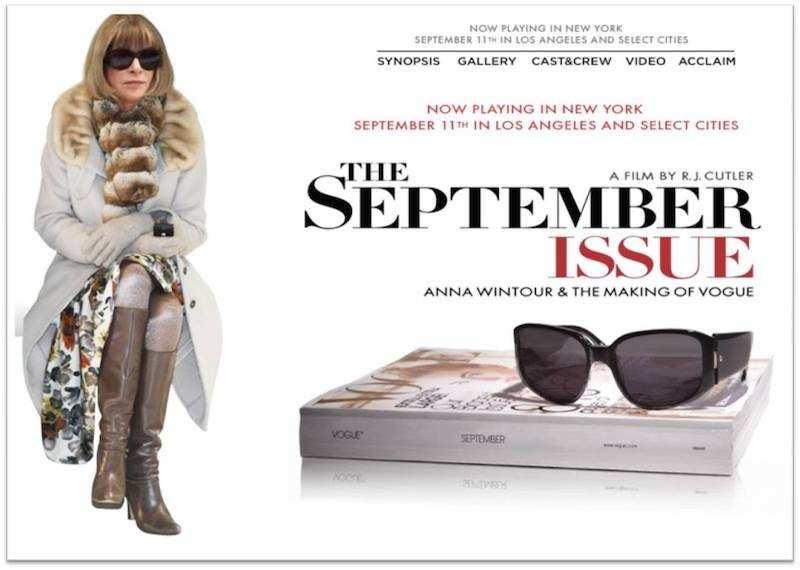 the september issue film afişi