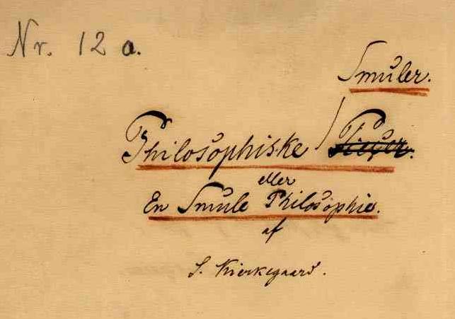 soren kierkegaard el yazısı