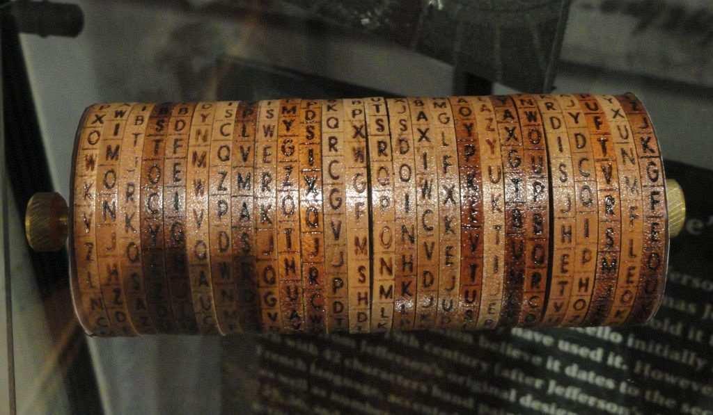 Thomas Jefferson, Cylinder Cipher Machine