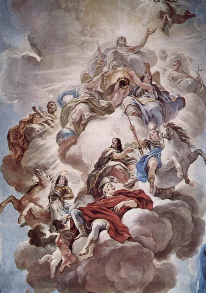 luca giordano, olympos tanrıları
