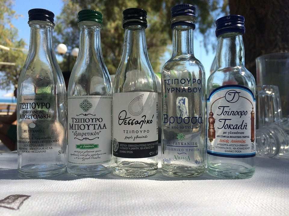 ouzo, uzo şişeleri