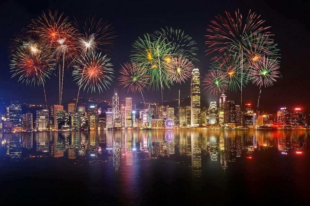 Hong Kong new year night
