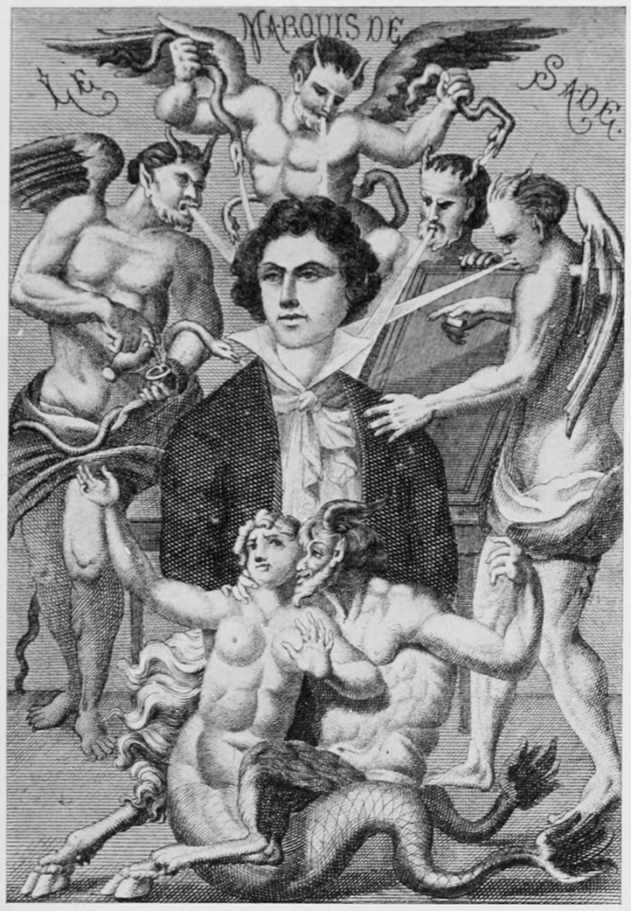 marquis de sade, louvre, kara kalem çizim