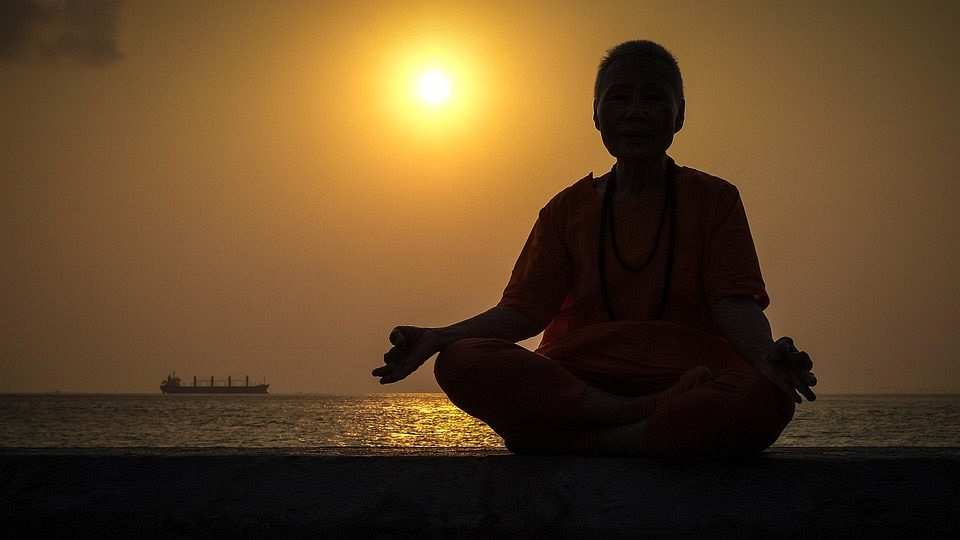 Yoga Buddha Portrait Sunset