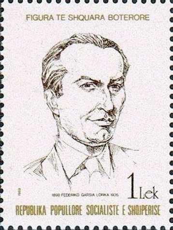 Federico García Lorca 1989 Albania stamp