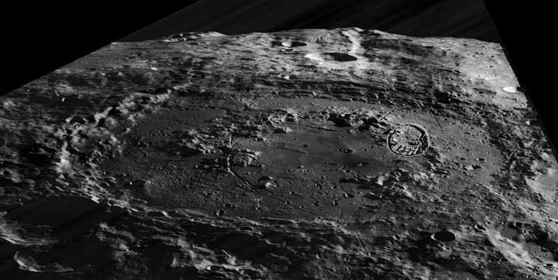 Schrödinger Krateri, Ay