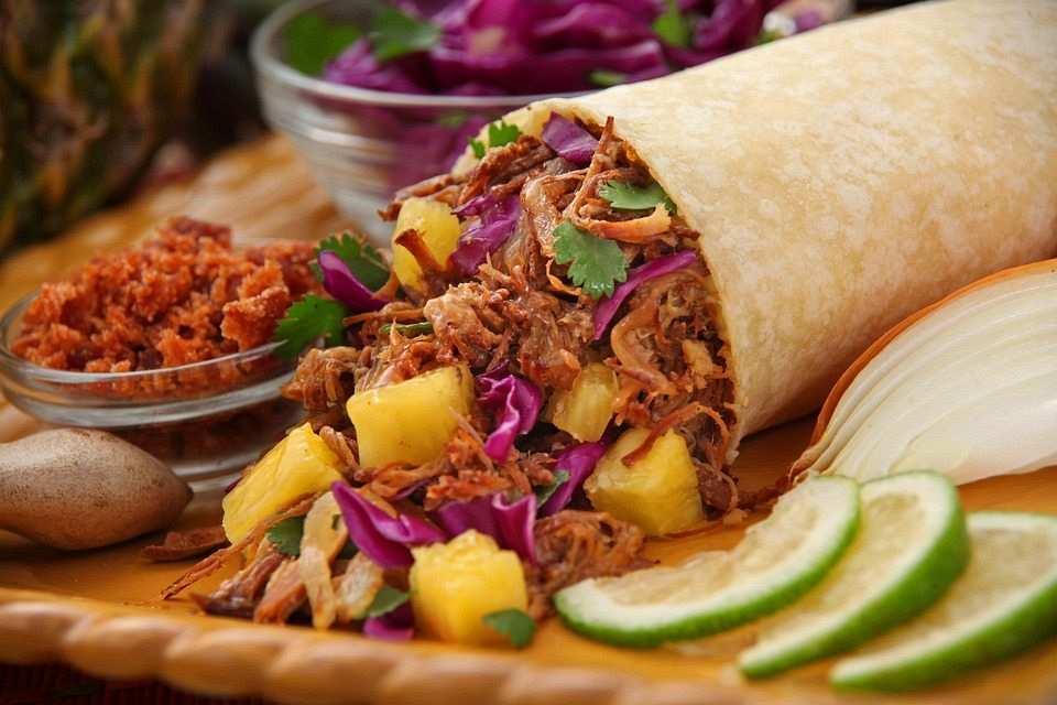 burrito meksika yemeği