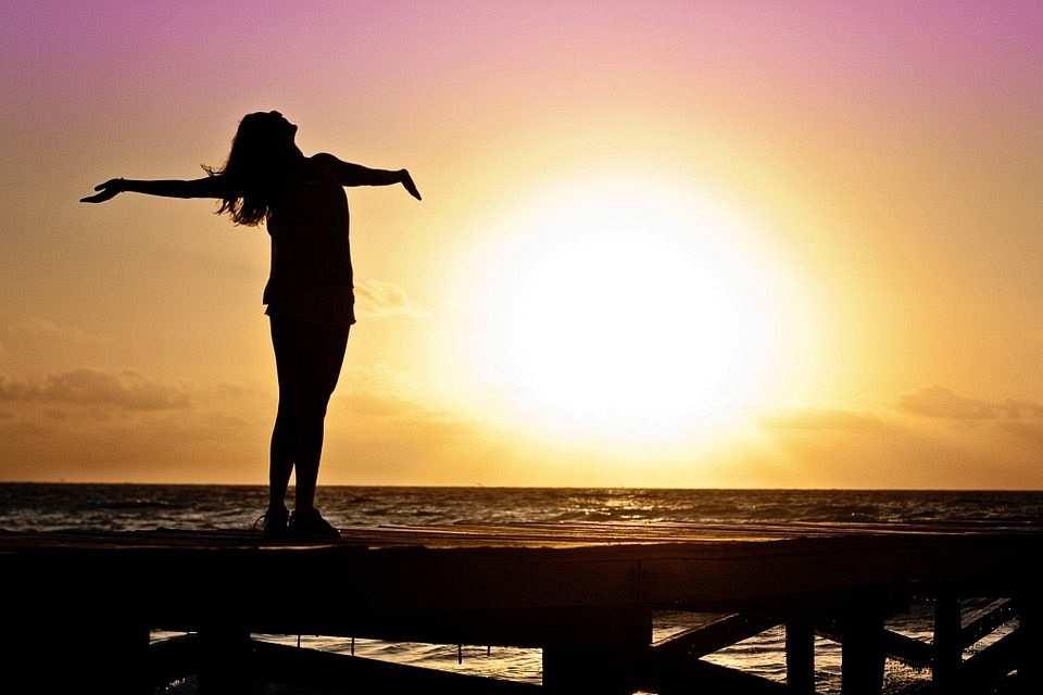 gün batımı, kadın