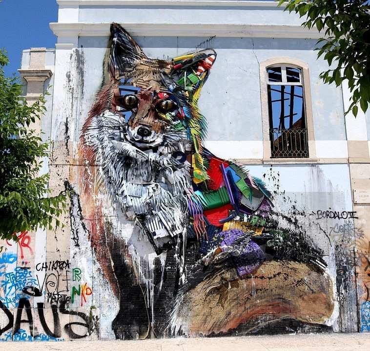 sokak sanatı mural tilki