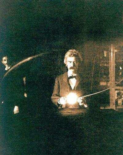 Mark Twain, Nicola Tesla'nın Laboratuvarı