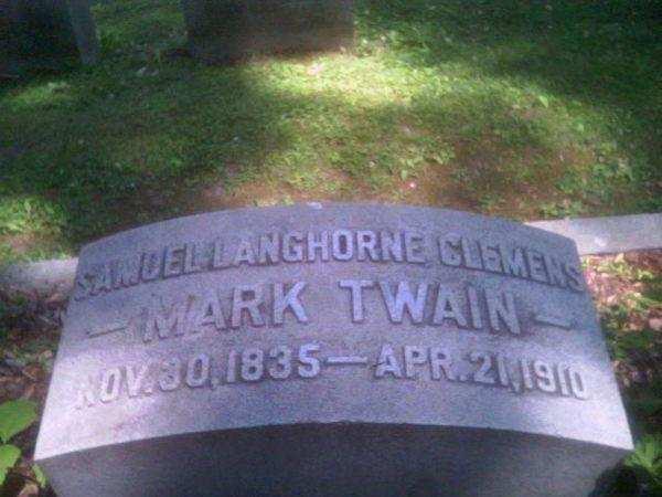 mark twain mezarlık
