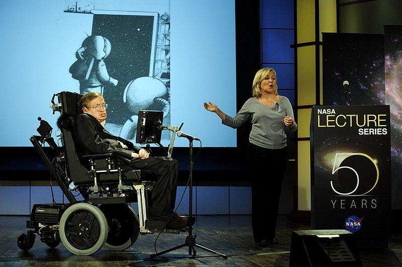 Stephen Hawking ve Lucy Hawking nasa