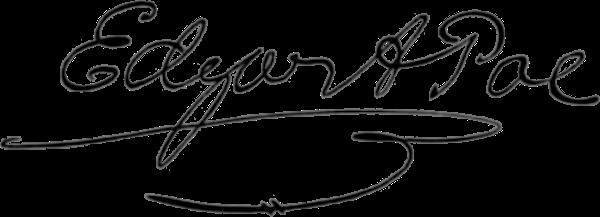 Edgar Allan Poe imza