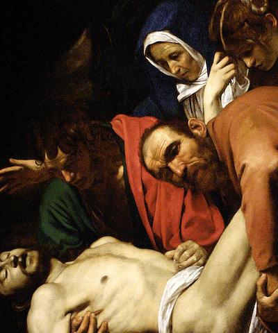 Caravaggio the entombment of christ