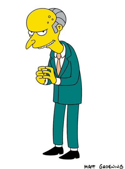 mr burns the simpsons