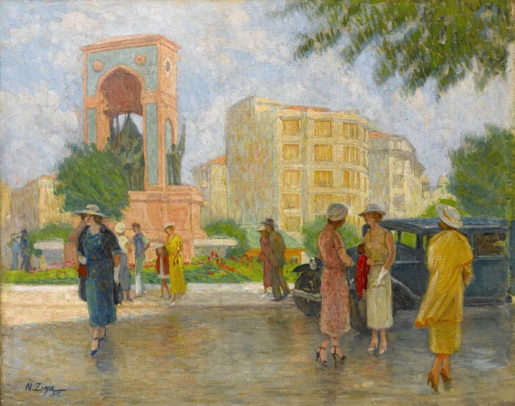 Nazmi Ziya Güran, Taksim Meydanı, 1935