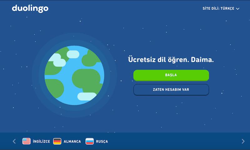 duolingo ücretsiz yabancı dil öğrenme uygulaması
