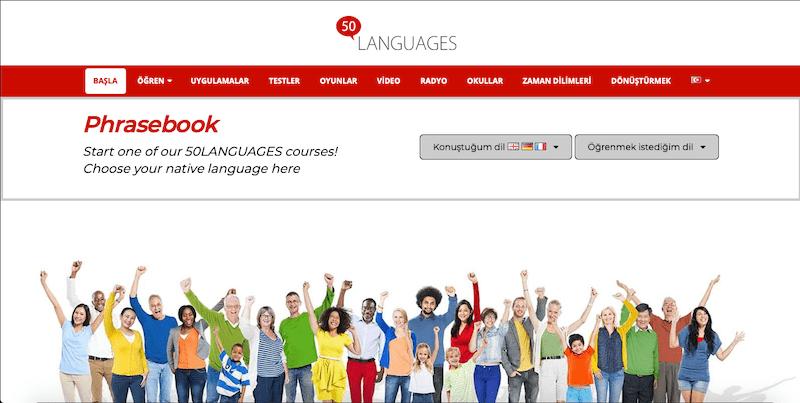 50 languages ücretsiz yabancı dil öğrenme uygulaması