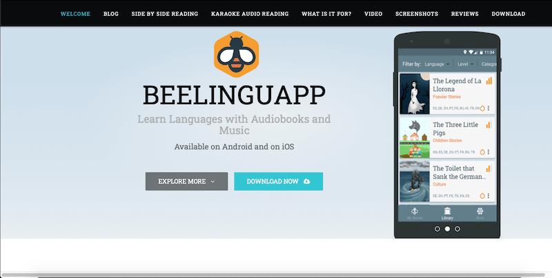 beelinguapp ücretsiz yabancı dil öğrenme uygulaması